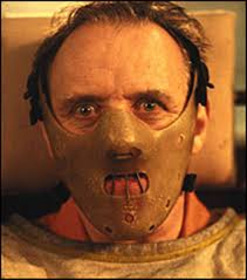 Anthony Hopkins place as the cannibal, Hannibal Lecture in Silence of the Lambs.