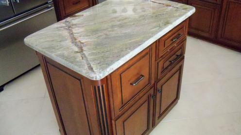 Bridgewood cabinets, Cherry with glazed finish