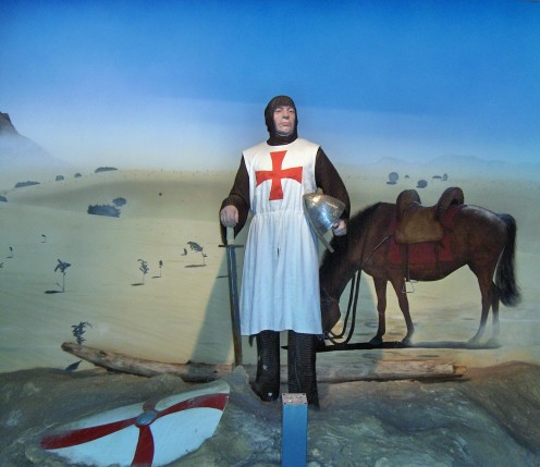 Artist's impression of a Templar Knight surveying the battlefield.