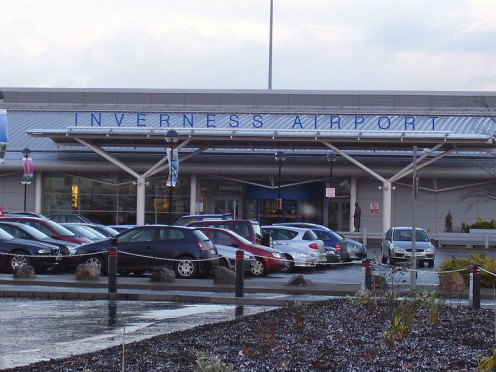 Terminal building at Inverness Airport