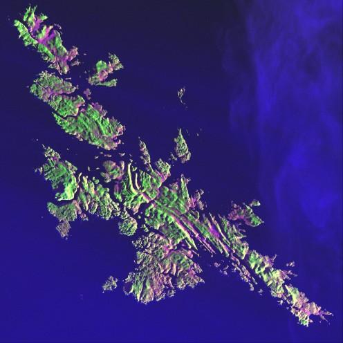 Shetlands Islands seen from space. Credit: NASA USGS