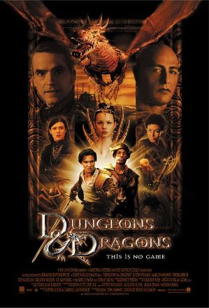 the movie poster for the first Dungeons and Dragons movie.