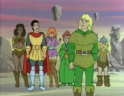 the cast from the Dungeons and Dragons cartoon