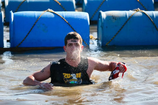 When asked, many participants claim that the ice bath is the absolute worst part of the obstacle course.