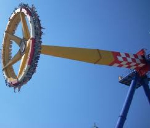 Delirium goes 70 miles per hour as it swings and rotates.It's not for the feint of heart.