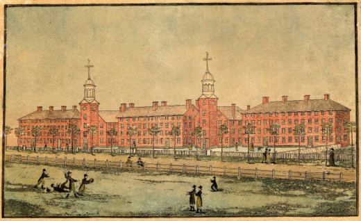 Yale University as it looked in 1807