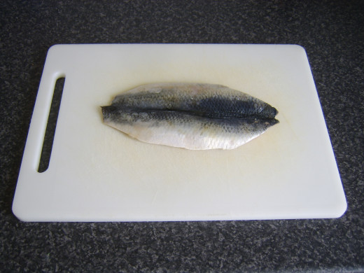 Butterflied herring fillet