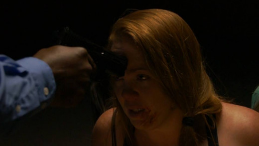 Kristina Andrew on one of the raw scenes from the movie.