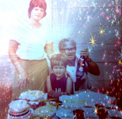 © Martie Coetser (My son's 3rd birthday celebration - posing with me and his oupa Pozyn)