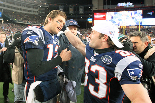 Quarterback Tom Brady and wide receiver Wes Welker have been one of the top passing tandems in the NFL for years. Photo: STAN GROSSFELD/THE BOSTON GLOBE/GETTY IMAGES