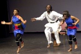 "Members of the Teddy Masuku Dancers in the stage production of ""Follow the North Star"" in Canada. Courtesy,  Sgt Serge Gouin, office of the Governor General of Canada. The British Imperial Act of 1833 aboliished slavery in the British Empire, includi"