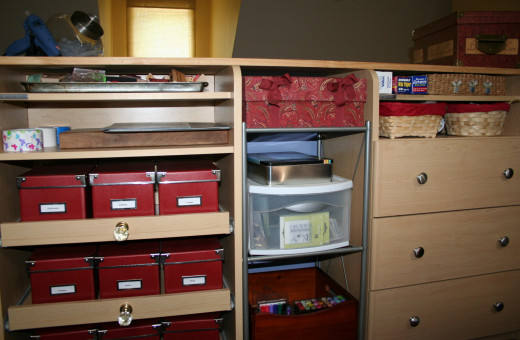 California Closets helped with my rubber stamp storage problem