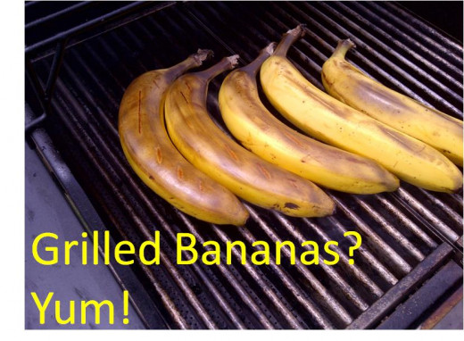 I made grilled bananas today- yum!