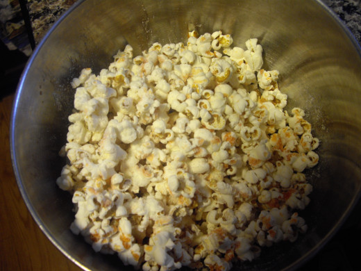 I like to make my own popcorn, and find creative ways to top it without adding too many calories, fat or sugar
