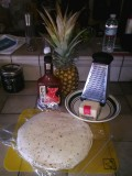 Quick Super Thin Crust BBQ Pineapple Pizza