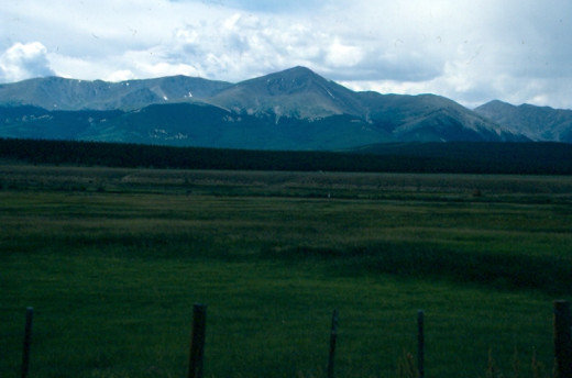 Mount Elbert from US 285.  Colorado.