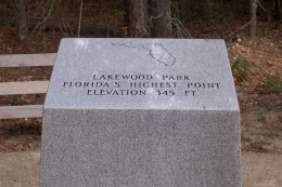 Florida high point marker.