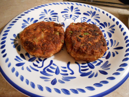 Beautiful golden brown Smoky Chipotle Vegetarian Burgers are delicious!  Give them a try!