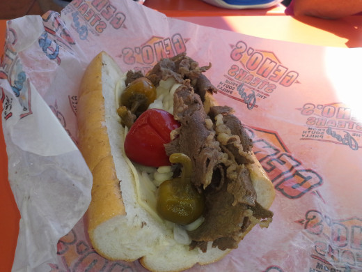 Geno's Steaks cheesesteak