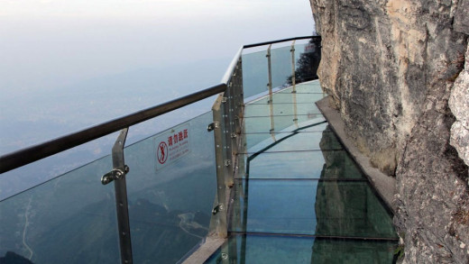 'The Walk of Faith!' Unfortunately, the day this photo was taken was not foggy. Seriously, how high is that!?