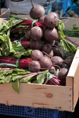Market examples of beetroot
