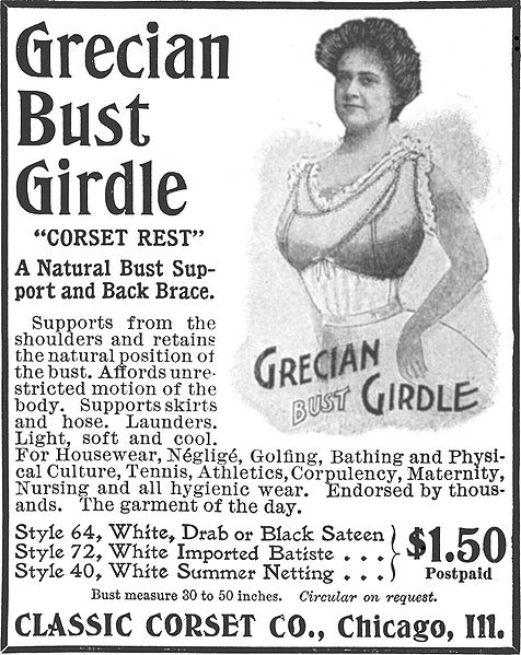 The thought of wearing this old fashioned type bra brings me out in a cold sweat!