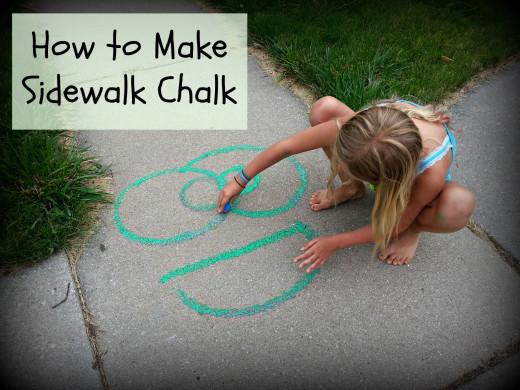 Easy to make Sidewalk Chalk