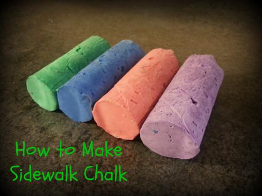 It's so easy to make...Sidewalk Chalk!!!