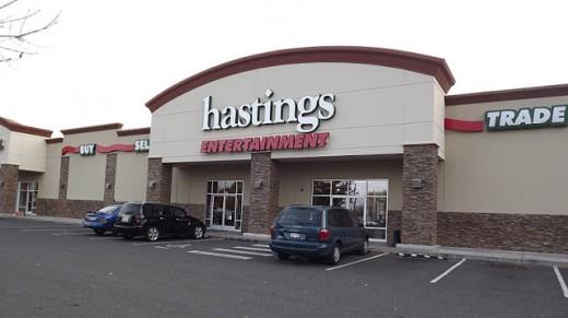 Exterior Shot of Hastings Entertainment