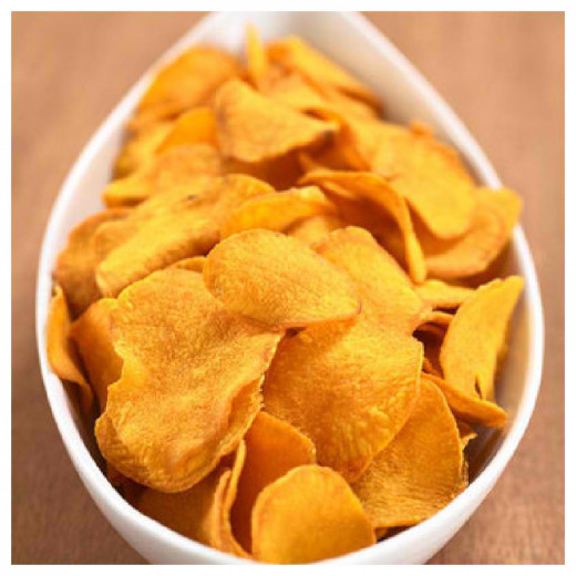 Homemade potato chips do not differ, both in taste and in appearance compared to commercially available ones.