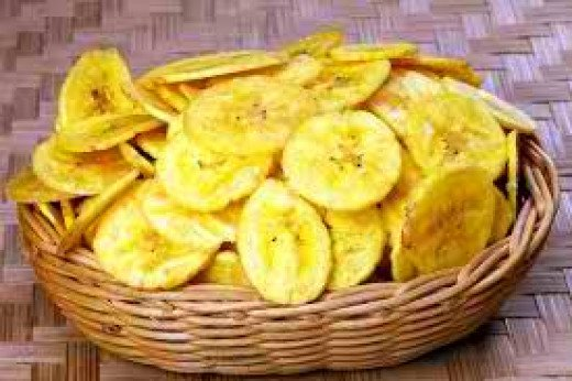 Banana chips is a delicious snack commonly prepared in Asian countries.