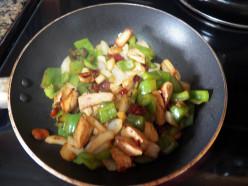 Saute chicken breast & veggies for 5 min.