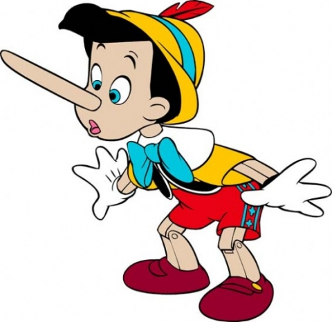 Addicts are no Pinocchio.  When they tell you a lie, it probably won't be this easy to tell.  Stick to your guns!