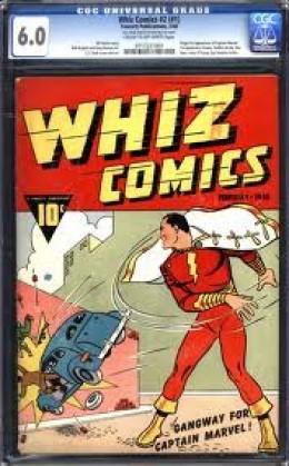 A nice graded copy of Whiz Comics # 1 err i mean # 2.