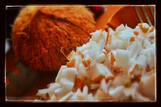 Coconut bits for unniyappam