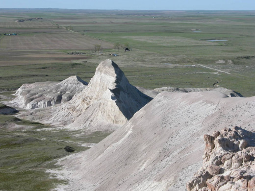 Looking down from White Butte, North Dakota.