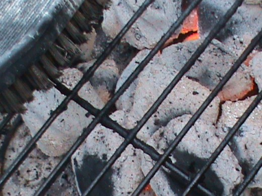 Coals ashed over