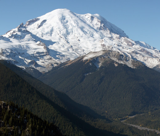 Mount Rainer, Washington. Northeast face.
