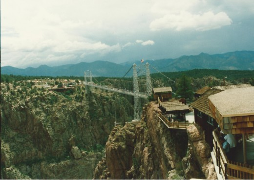 View of the Royal Gorge suspension bridge