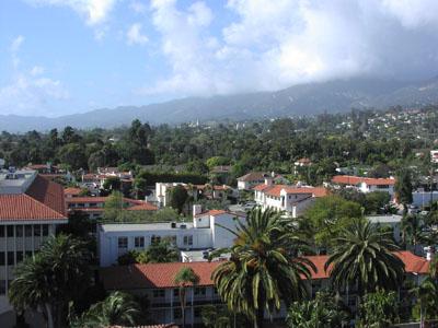 Sue Grafton uses the layout of Santa Barabara, California to create Kiinsey Milhone's home of Santa Teresa.