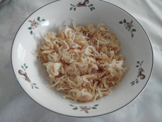 Fig. 6. Dried baby shrimps.