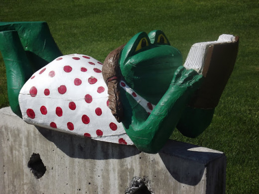 Frogs are Popular Mascots Throughout the Milton-Freewater Community