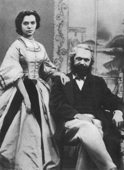 Karl Marx and his daughter Jenny