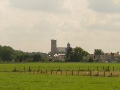 Basilica of St. Servatius, Grimbergen, seen from Lintbos