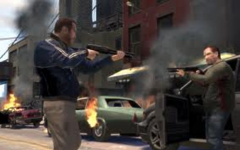 Grand Theft Auto 4 for the Sony PS3 has great sound, graphics and gameplay. It's rated M for mature.