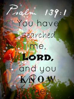 Psalm 139:1 art design