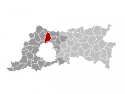Map location of Grimbergen, Flemish Brabant province, Belgium