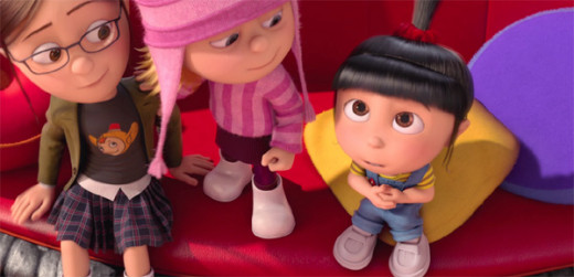 Margo, Edith, and Agnes charm in Despicable Me 2