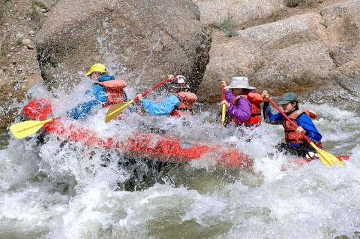Whitewater rafting is a fun group activity!