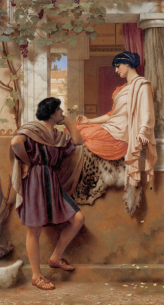 """""""The Old, Old Story"""" by John William Godward. 1903"""